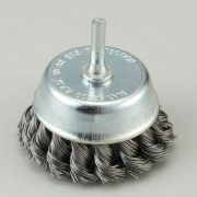 Shaft Mounted Cup Brushes Twisted Knot