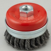 reinforced twisted knot cup wire brush