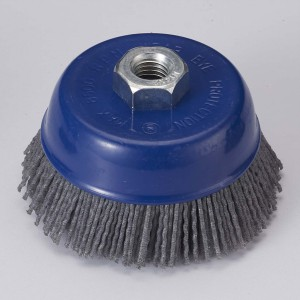 Blue Nylon filament Cup Brushes
