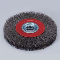 crimped wire brush with thread