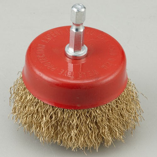 Shaft Mounted Crimped wire cup brush