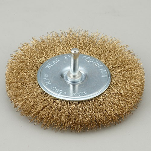 Shaft Mounted Crimped wire wheel brush