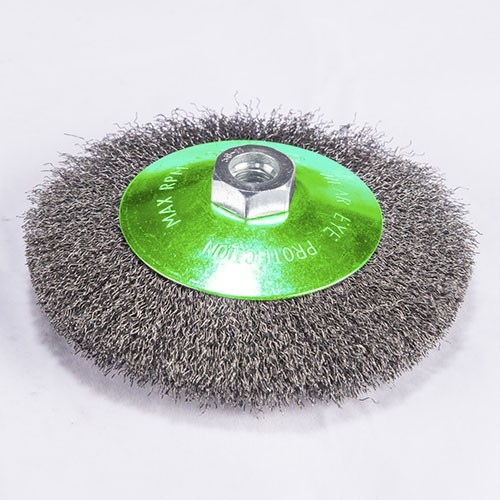 crimped wire Bevel brush with High quality carbon steel