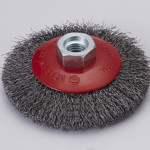 crimped wire Bevel brush with Stainless steel