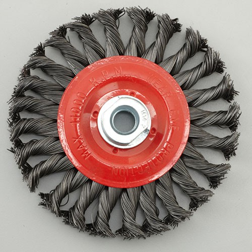 Premier Twisted Knot wire wheel brush with nut