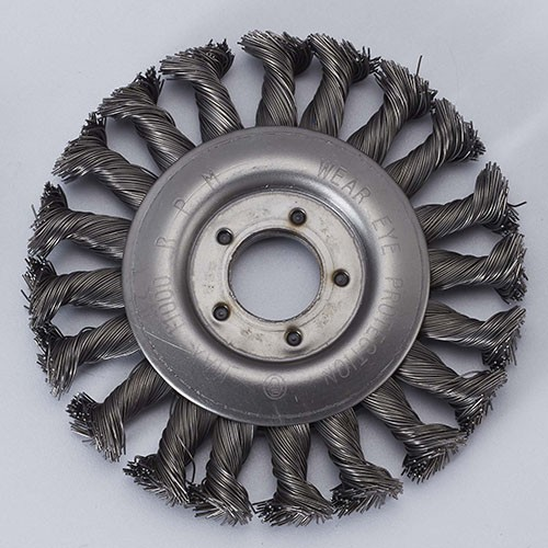 Twisted Knot wire wheel brush with hole