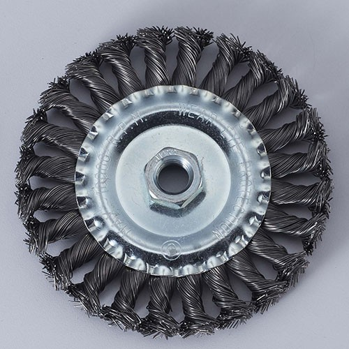 Twisted Knot wire wheel brush with nut