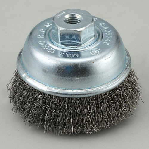 crimped cup wire brush with High carbon steel