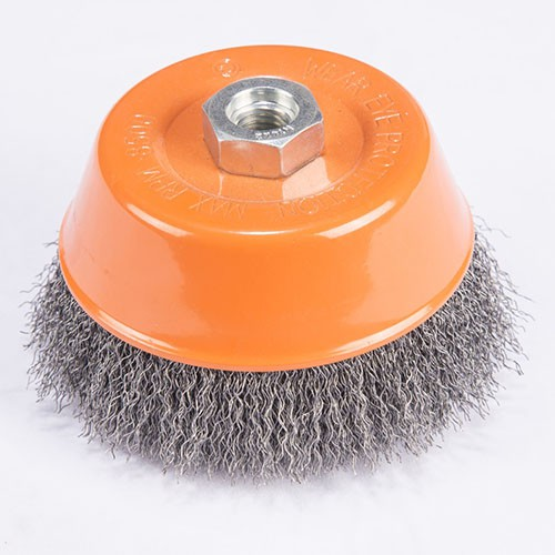 crimped cup wire brush with Stainless steel
