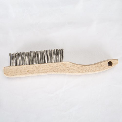 Shoe handle wooden wire brush