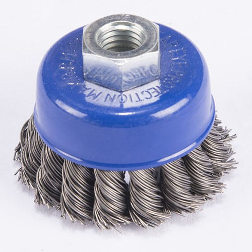 Professional twisted knot wire cup brush
