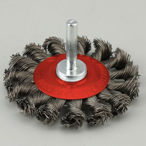 Shaft Mounted Twisted knot wire wheel brush