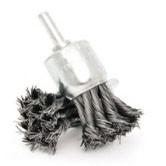 Standard Shaft Mounted Twisted Knot wire end brush ★★★ (For RPM 20000, we use bench grinder)